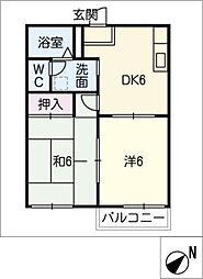 愛知県豊田市大林町15丁目の賃貸アパートの間取り