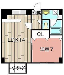 アビタシオン・ドゥ[405号室]の間取り