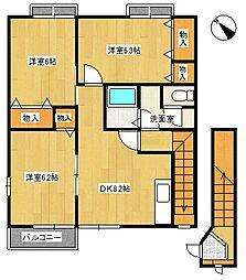 シャーロットタウン2[2階]の間取り