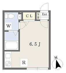 JR常磐線 亀有駅 徒歩8分の賃貸マンション 4階ワンルームの間取り