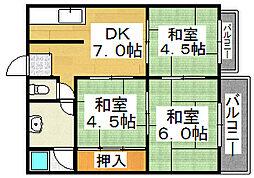 東雲荘[2階]の間取り
