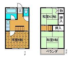 [テラスハウス] 神奈川県相模原市南区東林間4丁目 の賃貸【/】の間取り