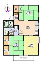 岩崎コーポA[1階]の間取り