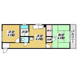 第一大朋マンション[4階]の間取り
