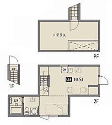 ニシオギソウ[2階]の間取り