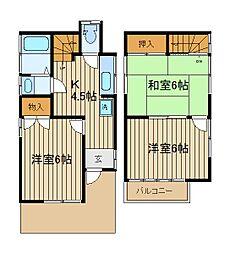 [一戸建] 埼玉県新座市栗原6丁目 の賃貸【/】の間取り
