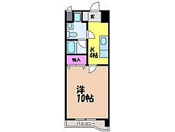 愛媛県松山市日の出町の賃貸マンションの間取り