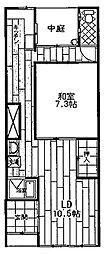 [テラスハウス] 大阪府大阪市西区九条3丁目 の賃貸【大阪府 / 大阪市西区】の間取り