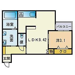 Square Style3 2階1LDKの間取り