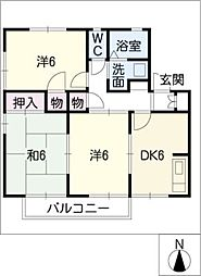 グリーンハイツ土井山 A棟[1階]の間取り