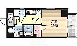 エステムプラザ名古屋丸の内 7階1Kの間取り