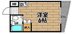 大阪府大阪市東淀川区豊新3の賃貸マンションの間取り