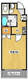 サンパティック壹番館[1階]の間取り