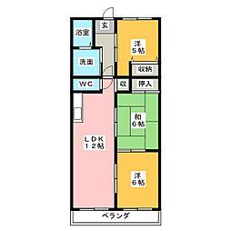 ラフィネI[2階]の間取り
