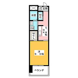 リバーズマンション長住[4階]の間取り