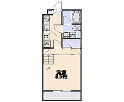 サンヴィアーレNAKAI[110号室]の間取り