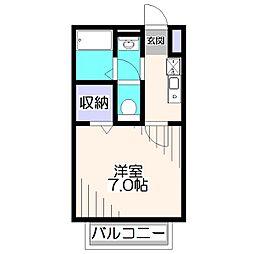 東京都西東京市富士町6丁目の賃貸アパートの間取り
