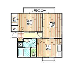 サンシティ恵2[2階]の間取り