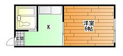 ヤングタウン[1階]の間取り