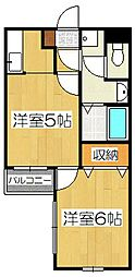 グレース菱屋1[1階]の間取り