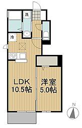 花水木 B棟[1階]の間取り
