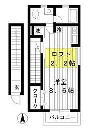 東京都練馬区南田中5丁目の賃貸アパートの間取り