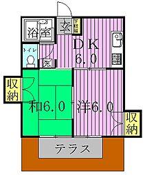 メゾンヤマリII[101号室]の間取り