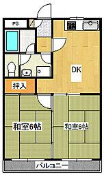 光マンション富士見野[2階]の間取り