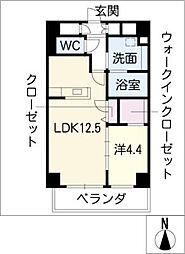 メルベーユ覚王山[5階]の間取り