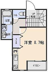 東京都杉並区松庵2丁目の賃貸アパートの間取り