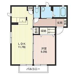 サンライズI[1階]の間取り