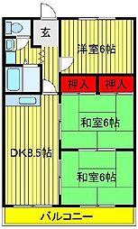 エクセレント富士見台[205号室]の間取り