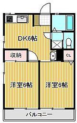 第3藤ハウス[2階]の間取り