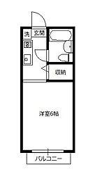 青木葉センタービル[206号室]の間取り