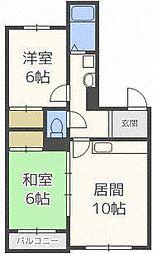 シャトー32[3階]の間取り
