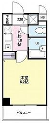 大阪府交野市私部西1丁目の賃貸マンションの間取り