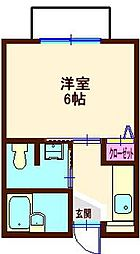 プチジョージアン横浜[1階]の間取り
