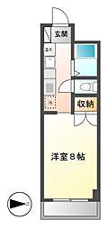 ヴァンヴェール名古屋[4階]の間取り