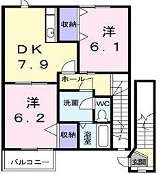 Vシャトー アロースリーIII[2階]の間取り