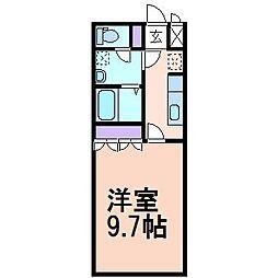 エスポアールS1[1階]の間取り