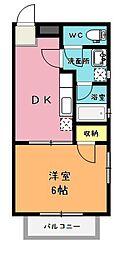 埼玉県上尾市井戸木1丁目の賃貸アパートの間取り