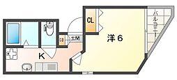 守口駅前敷島第二ビル 5階1Kの間取り