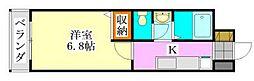 モエムマンション[305号室]の間取り