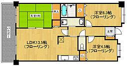クラシオン桜坂[1095号室]の間取り