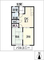 ドエルマルシェA棟[2階]の間取り