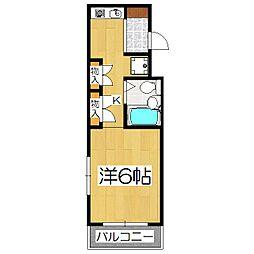 シフォン神泉苑[306号室]の間取り