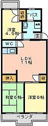 埼玉県さいたま市北区別所町の賃貸マンションの間取り