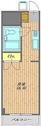 パークライフ平塚生活保護受給者支援賃貸マンション[206号室号室]の間取り