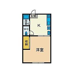 シティハイムエスポワールNO.1[2階]の間取り