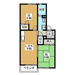 フォーレスIKEDA A棟[2階]の間取り